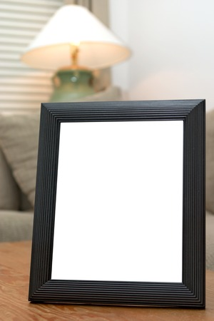 Black picture frame ready for custom picture to be added