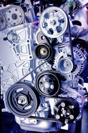 highend: Close-up di una serpentina su una cintura alta fine Turbo-addebitato vettura sportiva