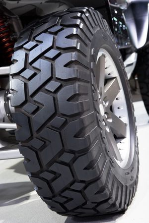 Close-up of a large off-road tire Stock Photo
