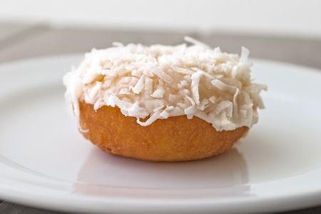 tantalizing: Coconut-topped donut