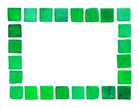 Frame of green tiles photo