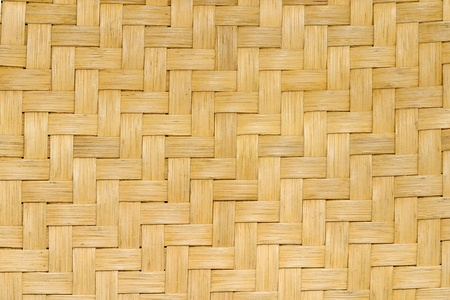 Close-up of cane weaving of chair seat