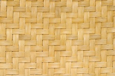 Close-up z trzciny tkania z siedziska krzesła