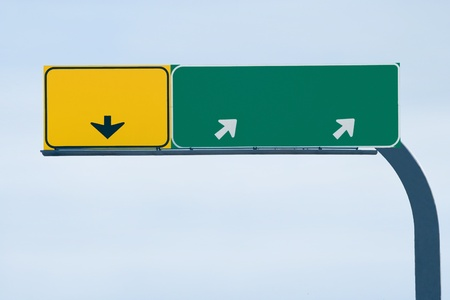 Blank freeway sign ready for your custom text