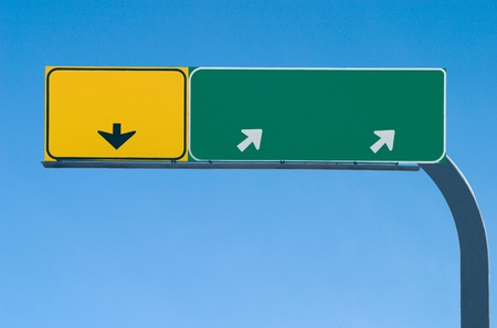 Blank freeway sign ready for your custom text Stock Photo - 13002444