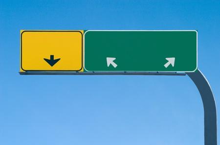 Pusta autostrada znak gotowy do niestandardowego tekstu Zdjęcie Seryjne