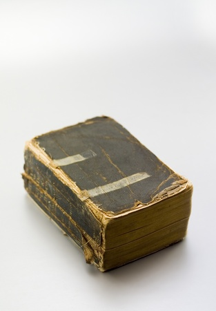 bedraggled: Old tattered book from the early 20th century Stock Photo