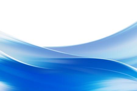 Een illustratie van blauwe vloeiende turbulente water Stockfoto