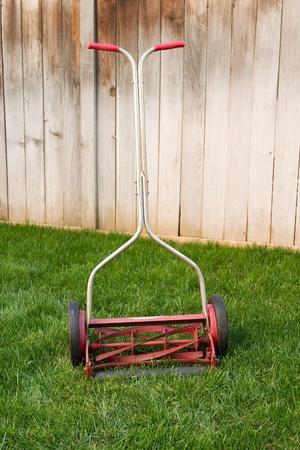 Old reel lawnmower