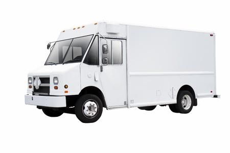 Weißen Lieferwagen auf weißem Hintergrund Standard-Bild - 13002776