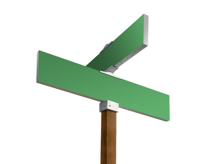 Blank green street sign ready for custom text Stock Photo - 13001148