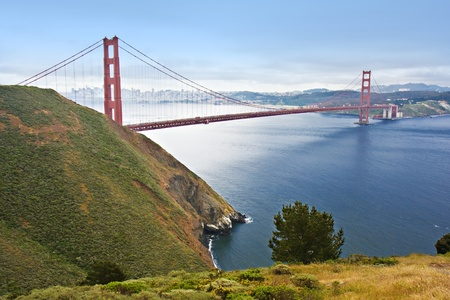 Golden Gate Bridge with San Francisco in the background photo