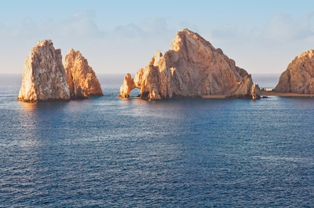 Los Arcos in Cabo San Lucas, Mexico bathed in warm sunlight