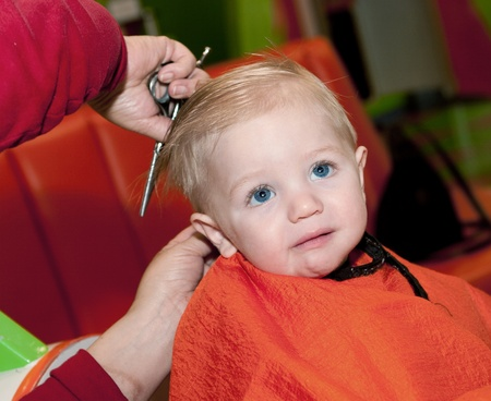 haircut: Baby boy Stock Photo