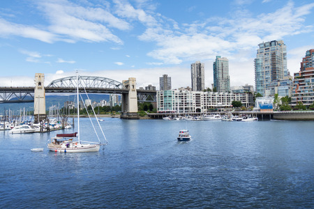 Boats in the harbor in Vancouver, British Columbia