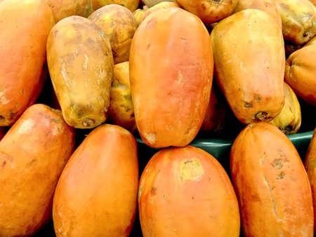 Tropical fruit papaya. Natural Background. Cancun, Mexico