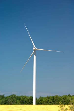 Power Generating Windmill -  Alternative energy source. Ontario, Canada
