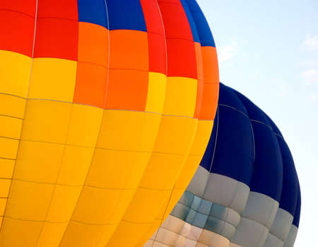 Colored Hot Air Balloons. Hot Air Balloon Festival in Gatineau, Quebec, Canada. August 30, 2008 免版税图像