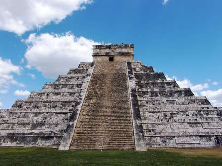Pyramid of Kukulkan at Chichen Itza. Mayan culture, Chichen Itza, Yucatan Peninsula, Mexico. Travel Destination. Stock Photo