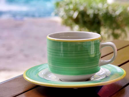 March Break. Morning coffee cup on vacation.