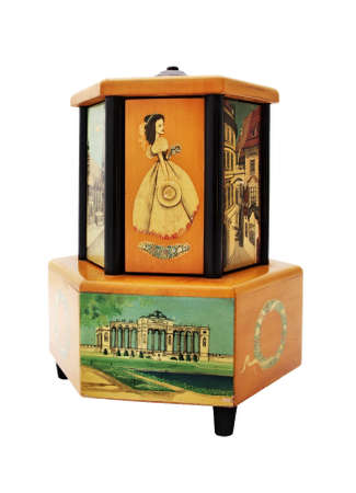Unique old antique music box playing music. Vienna, Austria, XIX - beginning of XX century. Standard-Bild