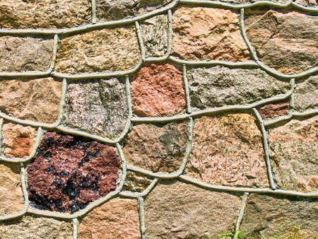 Nature backgrounds: Granite stone wall for backgrounds Standard-Bild