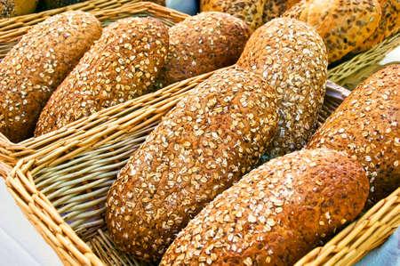 Fresh organic bread. Healthy Organic Eating.