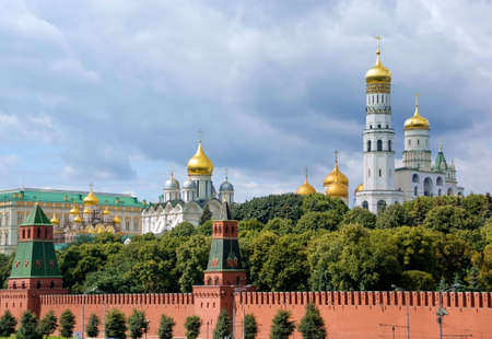 Moscow Kremlin wall. Moscow, Russia. Old architecture, landmark. Standard-Bild