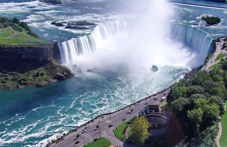 Niagara Falls, famous tourist landmark. Ontario, Canada photo