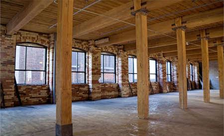 Construction site. Wood framing. Renovation. Standard-Bild