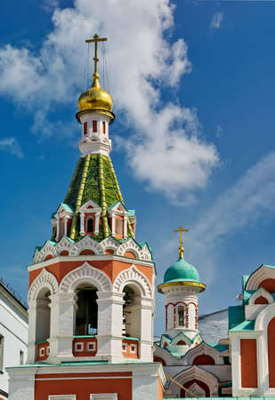 Kazan Cathedral, a Russian Orthodox church. Red Square, Moscow, Russia