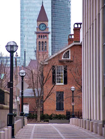 Toronto downtown: Clock tower. Historical landmark. Canada
