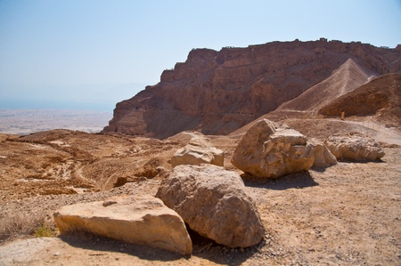 The ancient fortress of Masada in Israel photo