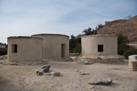 neolithic: Los restos de un poblado neol�tico en Chipre Foto de archivo
