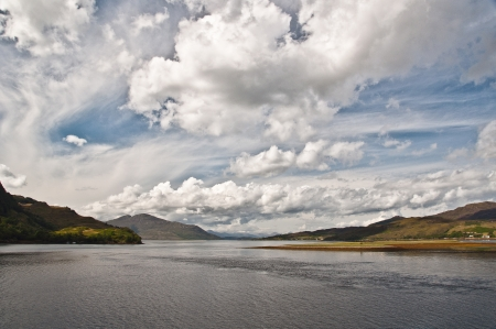 country side: View of Loch Duich in the Scottish Highlands Stock Photo