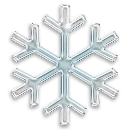 iced sneeuwvlok illustratie geà ¯ soleerd op witte achtergrond