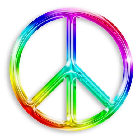 illustratie van vrede symbool geà ¯ soleerd op witte achtergrond