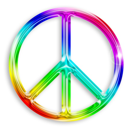simbolo della pace: illustrazione del simbolo di pace isolato su sfondo bianco Archivio Fotografico