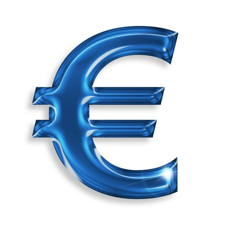 euro symbol isolated on white background photo