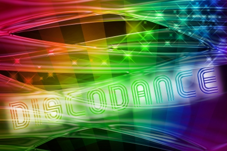 70s disco: abstract rainbow background with glossy waves and spotlights