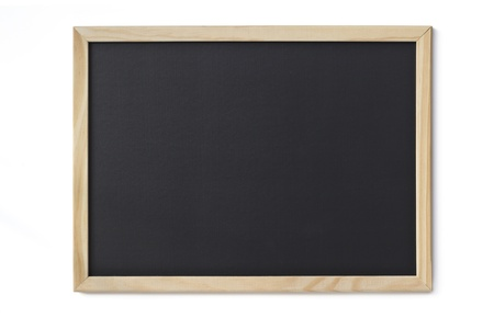 blank blackboard isolated on white background photo