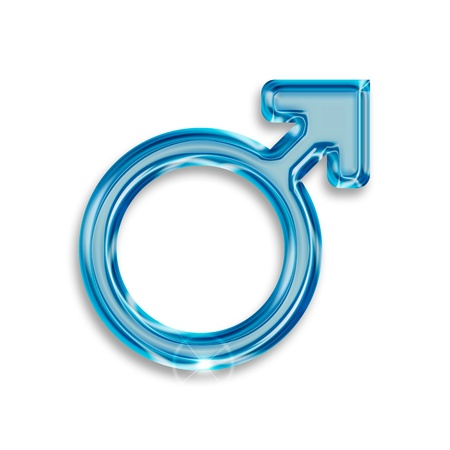 male gender symbol isolated on white background Stock Photo - 16135067