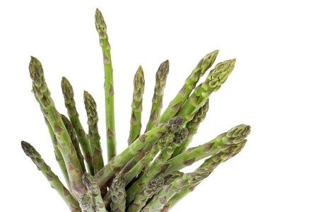bunch of asparagus isolated on white background Stock Photo - 16843950
