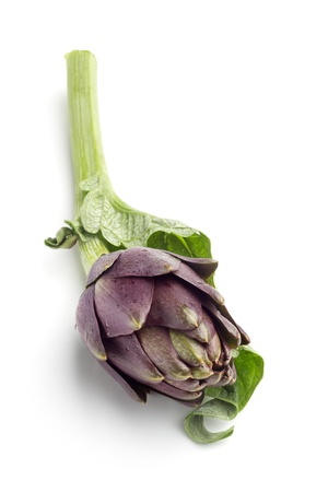 close up of artichoke isolated on white background photo