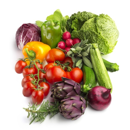collection of fresh vegetables isolated on white background Stock Photo - 16902576