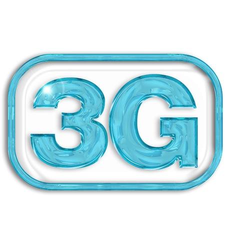 3g: 3G blue symbol isolated on white background