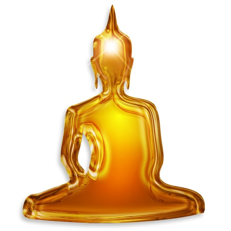 buddha silhouette isolated on white background Stock Photo - 17695308