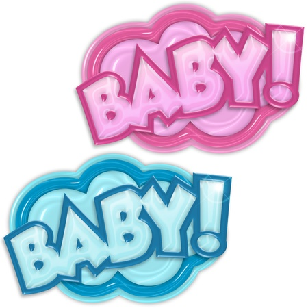 neonate: baby arrival badges on white background