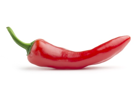 red hot chili pepper on white background photo