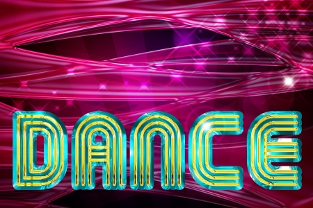 abstract dance background with glossy waves and spotlights photo
